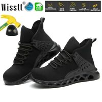 Men's Work Safety Shoes Steel Toe Cushioned Hiking Boots Indestructible Sneakers