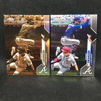 Lot (2) Dansby Swanson 2020 Topps Chrome Sepia Refractor & Base #65
