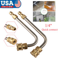 "High Pressure Washer Gutter Cleaner Rod 1/4"" Quick Connect Nozzle For Lance/Wand"