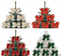 5 X Red and Gold Christmas Tree Bows,Bow Decoration,Gift,Ornament,Merry XMAS!