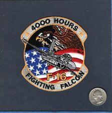 F-16 Fighting Falcon 4000 Stunden USAF Ang FS Efs Kämpfer Geschwader Aufnäher