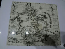 "ANTIQUE 1738 Philippines asia map ""Carta dell isole Filippine"" Filipiniana"
