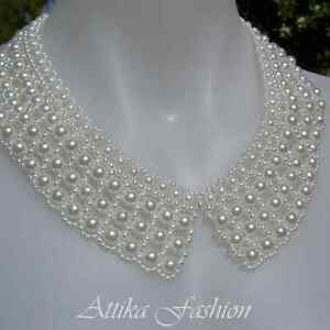 Latest Trend --- Gorgeous Designer Pearl Necklace Collar *Party* *Wedding*