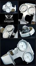 Designeruhr CAVADINI Damen Sommer Uhr, ausgefallenes Design, Edelstahl, weiss