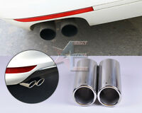 2CHROME EXHAUST TAIL MUFFLER TIP PIPEfor VW Golf variant /Jetta Sport wagon10-12