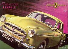 Renault Fregate Transfluide 1957-58 UK Market Sales Brochure