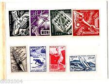 MONACO 8 TIMBRES 1948  - 1952 NEUF  JEUX OLYMPIQUES / HELSINKI UNC NEUF