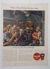 Original Print Ad 1944 COCA-COLA Coke Have a Coca-Cola Navy Battleship Vintage