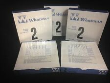 500 Whatman Circle Filter Papers, 2 Qualitative, 12.5 cm., 5 packs of 100 each