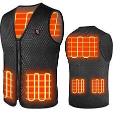 US Size Winter Electric Heated Vest Warm Body USB Unisex Heating Coat Jacket HOT