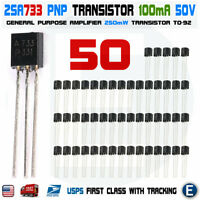 50pcs 2SA733 Amplifier NEC TO-92 Transistor A733 A 733 USA