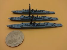 QTY 3 Minic Triang Destroyer WarShips 2 - #M790 HMS Volage & HMS Venus - Loose