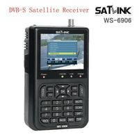 SATlink WS-6906 3.5'' DVB-S FTA Data Digital Satellite Signal Finder Meter Black