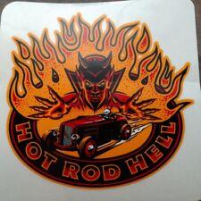 Hot Rod Hell Peel & Stick 2 Stickers Custom Kustom Kemp Rat Rod Hot Rod Led Sled
