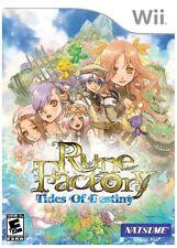 Rune Factory: Tides of Destiny WII New Nintendo Wii