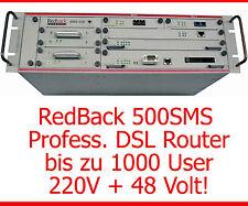 PROFESSIONELLER REDBACK 500SMS DSL ROUTER ATM OC-3 BIS 1000 USER 48V 220V STROM