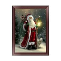 5D Diamond Painting Santa Claus Embroidery DIY Art Cross Stitch Xmas Home Decor