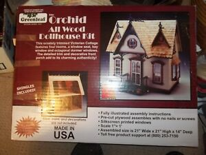 NEW Greenleaf The Orchid All Wood Dollhouse Craft Kit Victorian Cottage 21x21x14