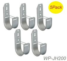 5-Pack 2-inch Galvanized J-Hooks for Cat5/6/6a/7, coax, and fiber-optic cables