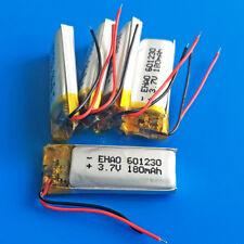 5 PEZZI 180mAh 3.7V LIPO BATTERIA RICARICABILE CELLE PER MP3 MP4 SMART WATCH 601230