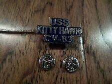 U.S Military Navy Uss Kitty Hawk Cv-63 Hat Lapel Pin