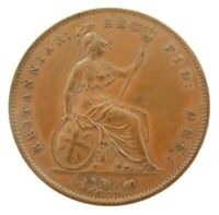 .SUPERB HIGH GRADE EF / EF+ 1858 ENGLISH PENNY.