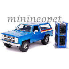 JADA 31396 JUST TRUCK 1980 CHEVROLET BLAZER 1/24 with EXTRA WHEELS BLUE
