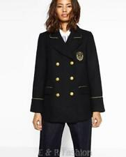 V-Neckline Casual Military Coats & Jackets for Women