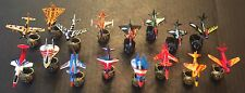 Vintage 1988 Matchbox Ring Raiders Skull Squadron Collection of 16 Mint Jets