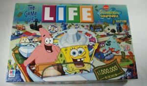 The Game of Life SpongeBob SquarePants Edition 2005 Milton Bradley 100% COMPLETE