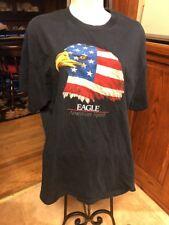 Mens Tennessee River Brand Navy T Shirt Eagle American Spirit Sz Lg