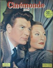 CINEMA MICHELE MORGAN HENRI VIDAL HOLLYWWOD LINE RENAUD CINEMONDE N° 900 de 1951