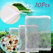 5/10x Mesh Aquarium Filter Zppered Net Bags Fish Tank Zip Filter Media Bags Set