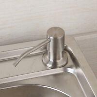 Brushed Nickel Countertop Liquid Dish Hand Pump Kitchen Sink Soap Dispenser