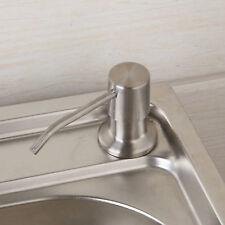 Kitchen Deck Mount Brushed Nickel Liquid Soap Dispenser Bottle For Sink Basin