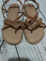 Born Mai Sandal - Women's Size 10 Brown cognac Strappy Ankle Leather