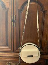 Steve Madden Purse Boho Crossbody Bag Tassels White Vegan Leather Studs Round