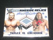 Triple H & King Booker 2007 Summer Slam Topps Wwe Certified Ringside Relics Card