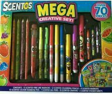SCENTOS Mega Creative Set Scented Pens Pencils Crayons Kids Colouring 70 pieces
