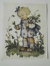 Künstler-Karte -M.J. Hummel - Nr.691,Stuttgart,1950 Emil Fink, Blumenkind