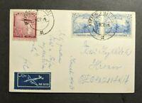 1955 Karachi Pakistan RPPC Airmail Cover to Czechoslovakia
