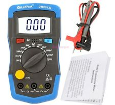 Capacimetro Digitale Misuratore capacità Condensatore Capacitanza Tester LCD