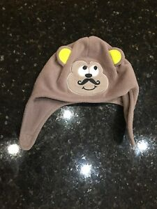 Jumping Beans Baby Boy Hat cap beanie Size 6-18 Months MONKEY Fleece infant