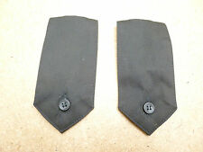 Black Security Ex Police Shirt Button On Epaulettes Epaulette Type 3   B2