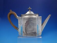 Robert Hennell English Sterling Silver Tea Pot Wood Handle Georgian (#4080)