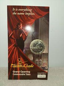 Monte Carlo Grand Opening Commemorative token