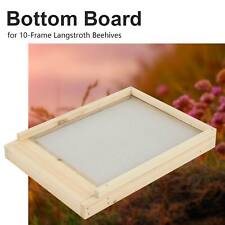 Wooden Bottom Board 10 Frame Langstroth Beehive Supply for Bee Keeping 22x16in