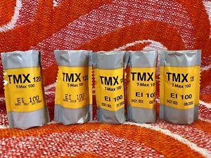 5 Rolls Kodak TMAX-100 Professional B&W Film 135-24 Expired 2000/2002