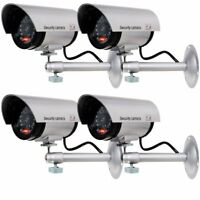 Dummy Fake Surveillance Security CCTV Dome Camera Indoor Outdoor LED Light