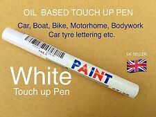 WHITE CAR  MARKER PAINT PEN TYRE  METAL ETC  PERMANENT PAINT MARKER UK SELLER